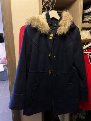 Atmosphere Cappotto in pile blu scuro