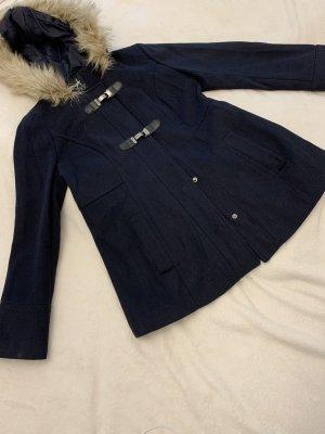Primark Heavy Pea Coat dark blue