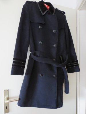 Mantel dunkelblau Winter Wolle