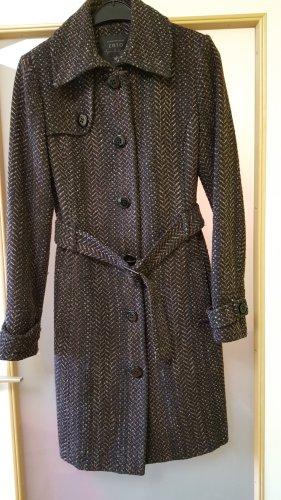 Zero Wollen jas donkerbruin Gemengd weefsel
