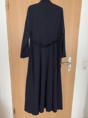 Floor-Lenght Coat dark blue