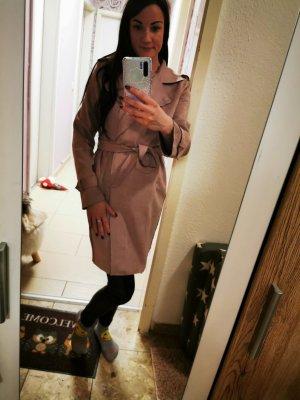 Wollen jas stoffig roze-mauve