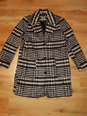 Vero Moda Abrigo ancho negro-rosa claro
