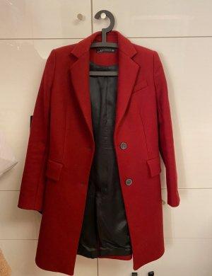 Zara Robe manteau rouge foncé