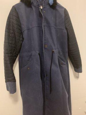 Hooded Coat dark blue