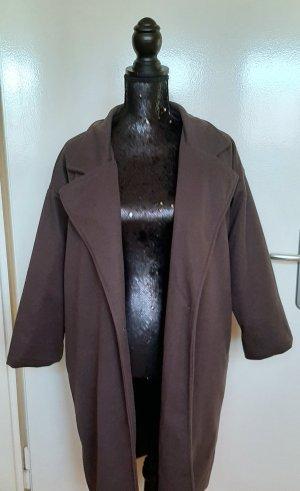 Veste longue gris brun