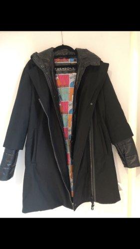 7 Seasons Quilted Coat black