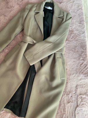 Mantel elegant schön XS khaki grau