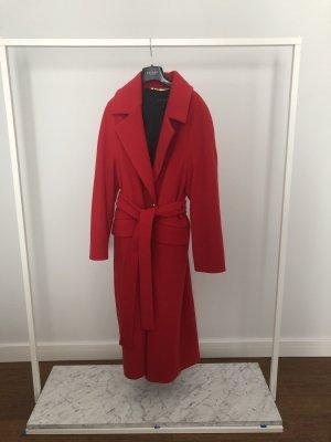 Escada Cappotto in lana rosso scuro