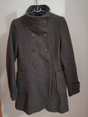 Amisu Manteau en tricot gris foncé