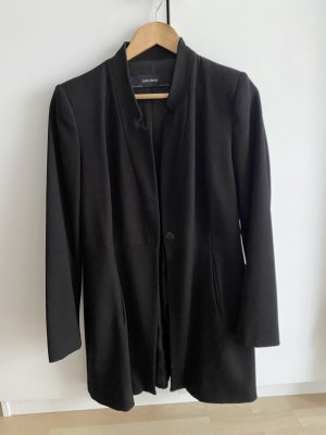 Zara Between-Seasons-Coat black