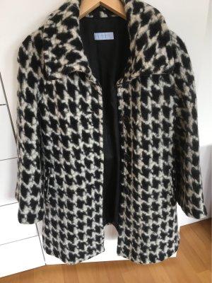 Blue Strenesse Wool Coat black-natural white