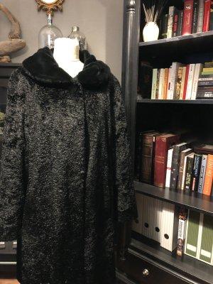 Vintage Jas van imitatiebont zwart