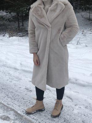 H&M Abrigo de piel beige claro
