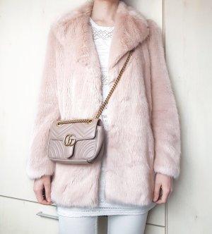 Mantel Faux Fur zara Beige Rosa Gr. L
