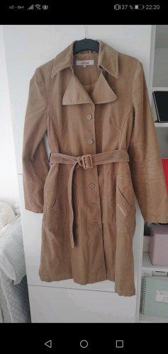 s. Oliver (QS designed) Gabardina tipo vestido marrón claro