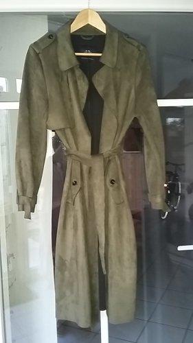 Manteau mi-saison vert foncé polyester