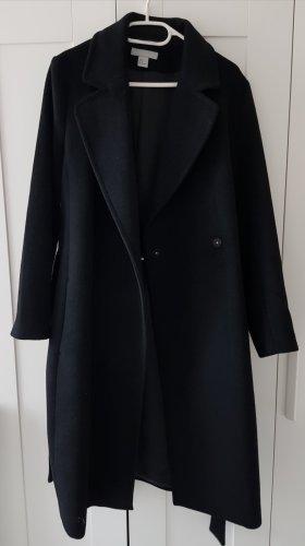 H&M Gabardina tipo vestido negro