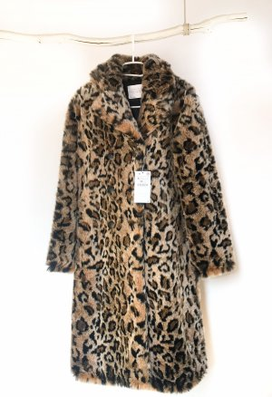 Mantel Fellimitat Leopard ZARA Woman