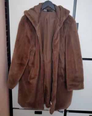 Mantel Fellmantel Teddymantel Zara