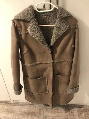 Benetton Short Coat light brown-grey