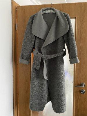 Cappotto in pile grigio Lycra