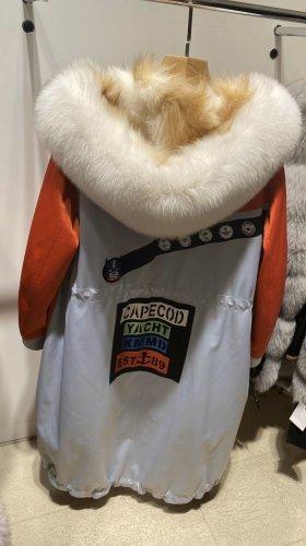 Fur Jacket red-white