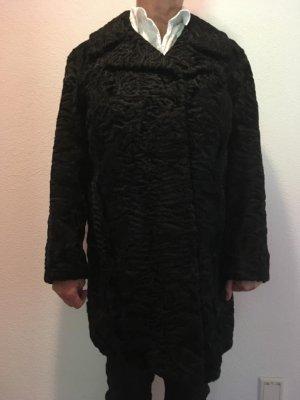 Heavy Pea Coat black fur