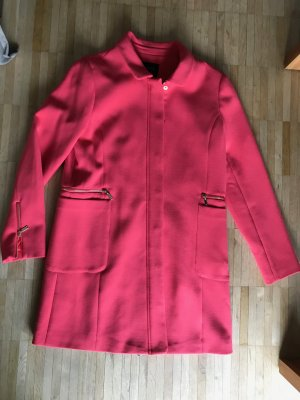 Galeries lafayette Heavy Pea Coat bright red polyester