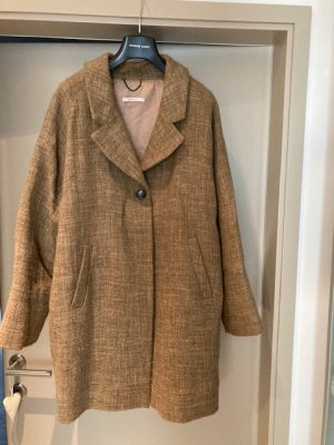 Gold Case Short Coat ocher wool