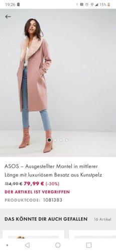 Asos Waxed Jacket dusky pink