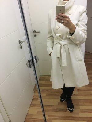3 Suisses Abrigo de entretiempo blanco puro