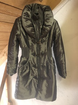 Softy Quilted Coat silver-colored