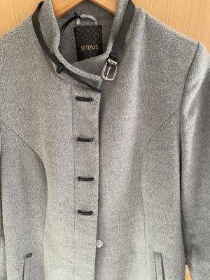 Manteau en laine gris clair-gris