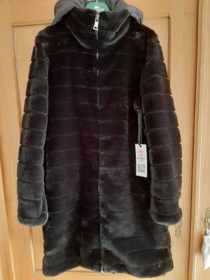 Blonde No. 8 Manteau en fausse fourrure noir polyamide