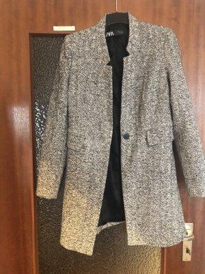 Mantel grau schwarz-weiss meliert