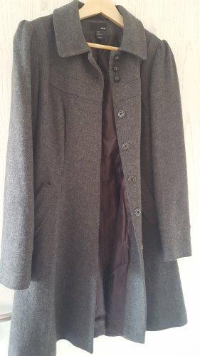 Mantel grau Wolle