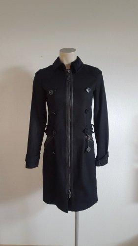 Guru Wełniany płaszcz czarny