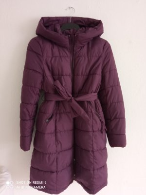 H&M Mama Płaszcz z kapturem czerwona jeżyna