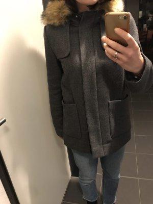 Hallhuber Manteau court gris anthracite