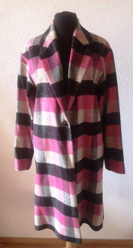 Mantel Hugo, karo, pink/schwarz/creme (Gr. 34/36)