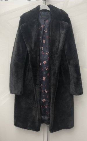 Oakwood Manteau imitation fourrure noir