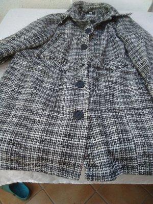 Manteau mi-saison noir-blanc