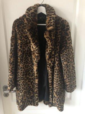 Mantel im Leoparden Muster