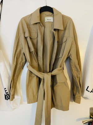 Stradivarius Wraparound Jacket sand brown