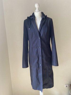 Hugo Boss Abrigo con capucha azul oscuro Algodón