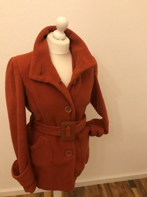 Flame Cappotto in pile ruggine