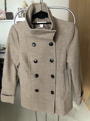 Mantel in dunkel beige/ Gr. 36