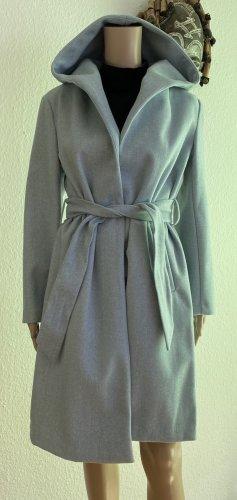 Zara Płaszcz z kapturem błękitny