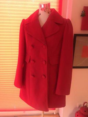 Next Abrigo de invierno rojo tejido mezclado